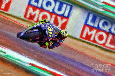 Photograph - 2018 Valentino Rossi  Though The Essex by Blake Richards