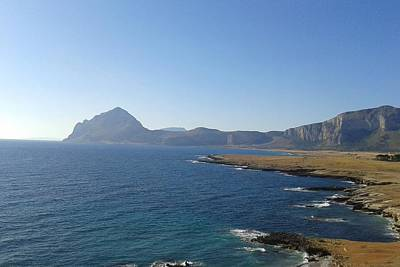 San Vito Lo Capo Digital Art - 203573 Trapani Sea Italy Sicily Vista Nature Beach Mountain Pass Landscape San Vito Lo Capo by Anne Pool