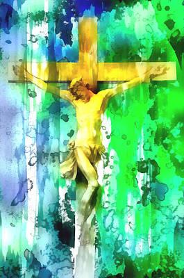 Jesus Digital Art - Jesus Christ - Religious Art by Elena Kosvincheva