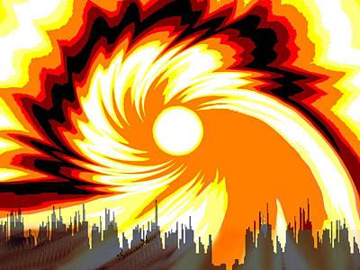 205 - Poster Climate Change  2 ... Burning Summer  Sun  Art Print