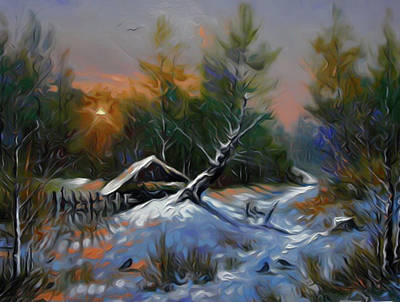 River Painting - Nature Landscape Light by Edna Wallen
