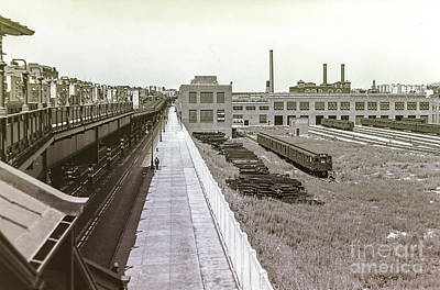 207th Street Subway Yards Art Print