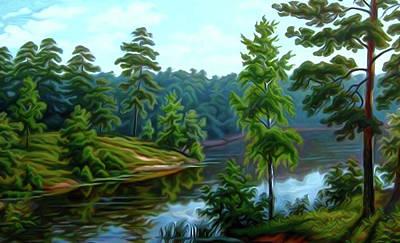 Winter Painting - Nature Landscape Work by Edna Wallen