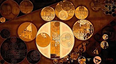 Ornamental Digital Art - Abstract Painting - Zinnwaldite Brown by Vitaliy Gladkiy