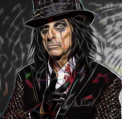 Music Mixed Media - Alice Cooper Collection by Marvin Blaine