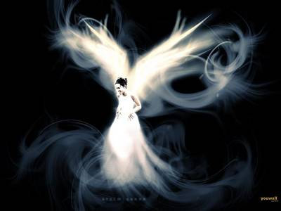Curve Digital Art - Angel by Super Lovely