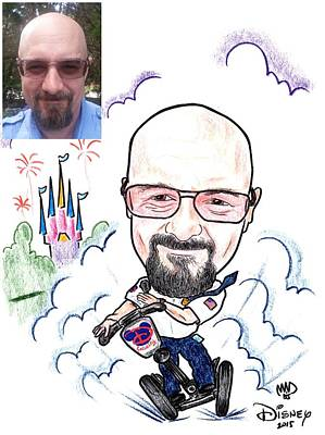Drawing - Caricatoon by Michael Dijamco