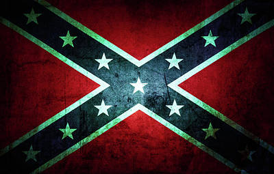 Photograph - Confederate Flag by Les Cunliffe