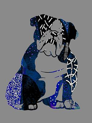 Puppies Mixed Media - English Bulldog Collection by Marvin Blaine