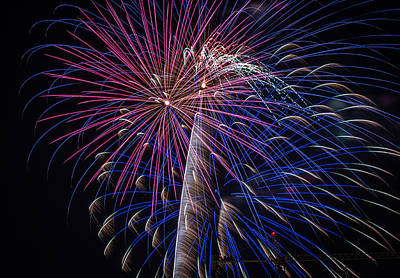 Photograph - Fireworks 2015 Sarasota 17 by Richard Goldman