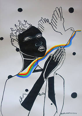 Painting - Hope For Peace In South Sudan by Gloria Ssali