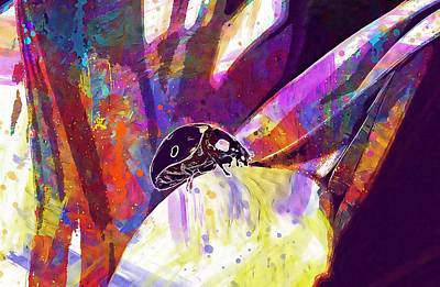 Digital Art - Insect Nature Live  by PixBreak Art