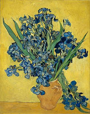 Vase Painting - Irises by Vincent van Gogh