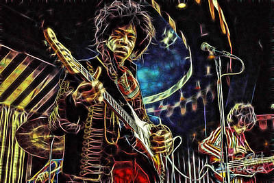 Jimi Hendrix Collection Art Print