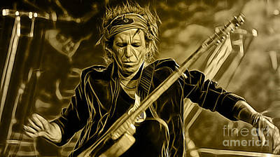 Rolling Stones Mixed Media - Keith Richards Collection by Marvin Blaine