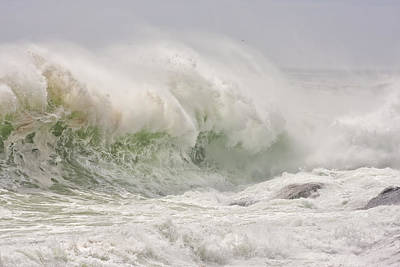 Photograph - Large Waves Pemaquid Point Maine by Keith Webber Jr