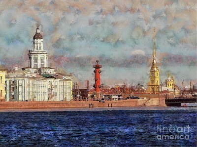 Mixed Media - Peterburg by Yury Bashkin
