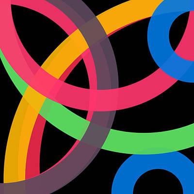 Drawing - 21 - Phi Word Circle by REVAD David Riley