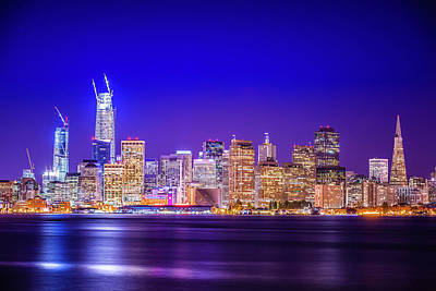 Photograph - San Francisco California Cityscape Skyline At Night by Alex Grichenko