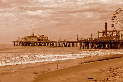 Rollercoaster Photograph - Santa Monica Pier Collection- 24/36 by Gene Parks