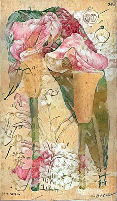 Victorian Digital Art - Shabby Chic Botanical Flowers by Amy Cicconi