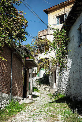 Photograph - Street In Berat Old Town In Albania by Jacek Malipan