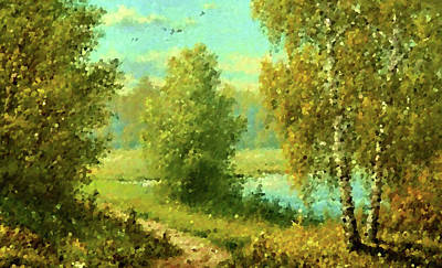 Oil Painting - Nature Landscape Artwork by Edna Wallen