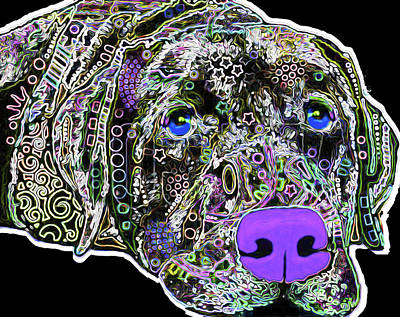 Puppies Mixed Media - 210b Labrador By Nixo by Nicholas Nixo