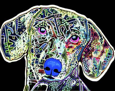 Dachshund Puppy Mixed Media - 210d Dachshund By Nixo by Nicholas Nixo