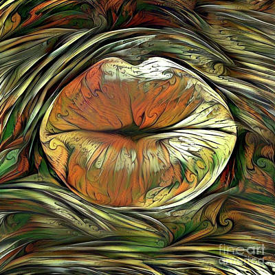 Digital Art - Kissing Lips by Amy Cicconi