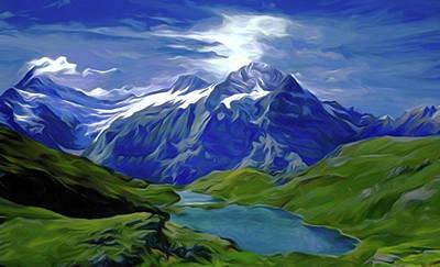 Cloud Painting - Nature Painted Landscape by Edna Wallen