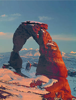 Photograph - 212702 Delicate Arch In Winter by Ed Cooper Photography