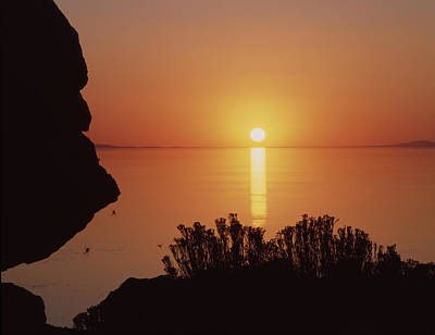 Photograph - 212a01 Sunset On The Great Salt Lake by Ed  Cooper Photography