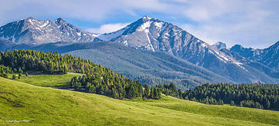 Photograph - #215 - Spanish Peaks, Southwest Montana by Heidi Osgood-Metcalf