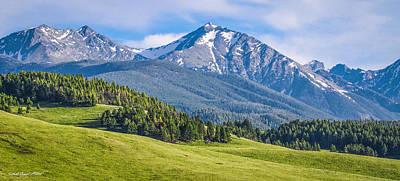 #215 - Spanish Peaks, Southwest Montana Art Print