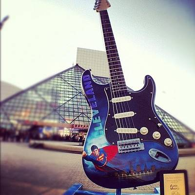 Guitar Photograph - #216 #cleve #burningrivercity #rockhall by Angela Ritchie