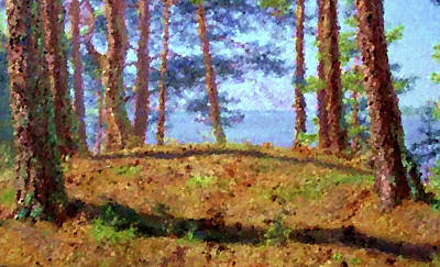 Twilight Painting - Nature Landscape Painted by Edna Wallen