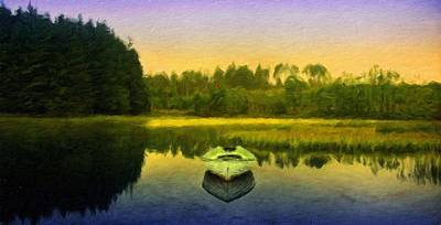 Sea Painting - Nature Art Landscape by Margaret J Rocha