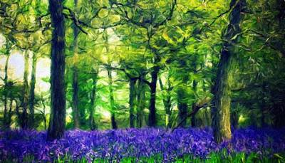 Idyllic Painting - Nature Landscape Pictures by Margaret J Rocha