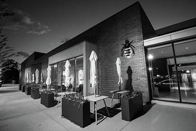 Photograph - 21c Museum Hotel At Dusk - Bentonville Arkansas -  Black And White by Gregory Ballos