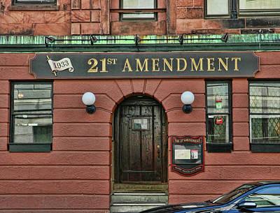 Photograph - 21st Amendment - Boston by Allen Beatty