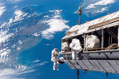Space Exploration Photograph - Astronauts Participate by Stocktrek Images
