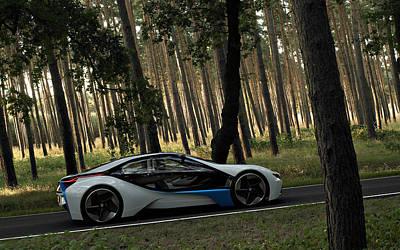 Transportation Digital Art - BMW by Maye Loeser