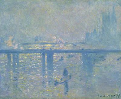 Steam Painting - Charing Cross Bridge by Claude Monet