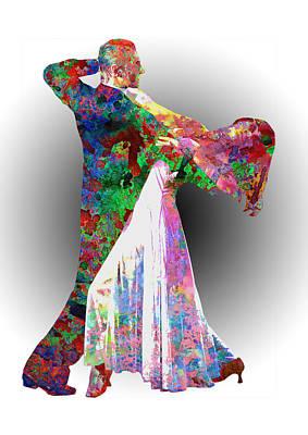 Graphic Digital Art - Dance by Elena Kosvincheva