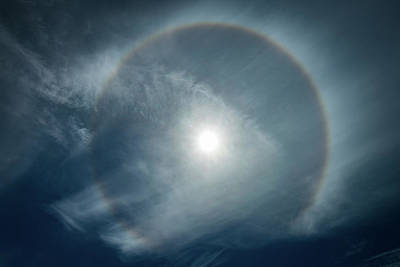 Photograph - 22 Degree Solar Halo by William Lee