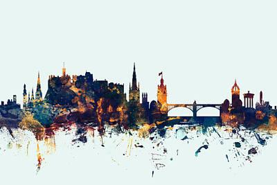 Edinburgh Scotland Skyline Art Print