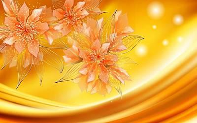 Design Digital Art - Flower by Super Lovely