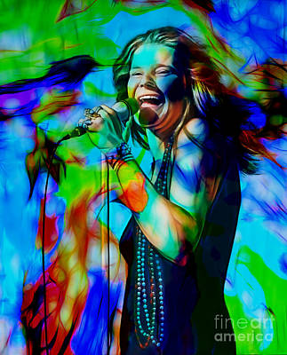 Music Mixed Media - Janis Joplin Collection by Marvin Blaine