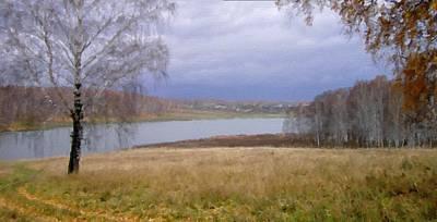 Landscapes Digital Art - Landscape In Painting by Victoria Landscapes